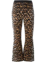 жаккардовые брюки с леопардовым принтом Stella McCartney