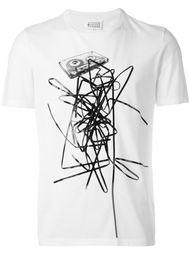 футболка с принтом кассеты  Maison Margiela