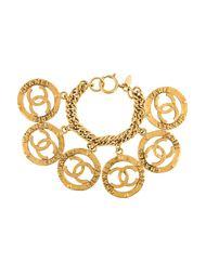 браслет с подвесками-логотипом Chanel Vintage