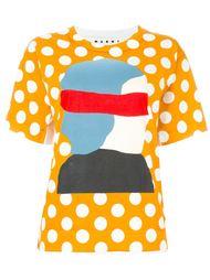 футболка с принтом в горох Marni