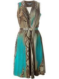 платье в полоску с принтом змеиной кожи Salvatore Ferragamo
