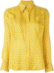 блузка с мелким принтом кепок Hermès Vintage