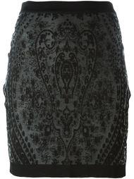 жаккардовая юбка  Balmain