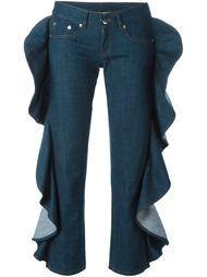 джинсы с оборками  Mm6 Maison Margiela