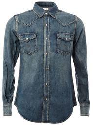 джинсовая рубашка в западном стиле Saint Laurent