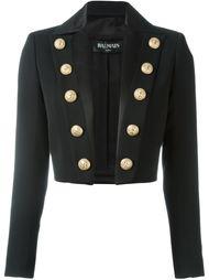 укороченный пиджак с декоративными пуговицами Balmain