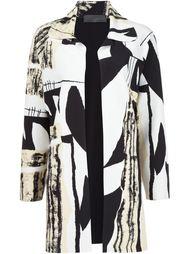 пальто с абстрактным принтом Norma Kamali