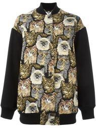 куртка-бомбер с принтом котов Stella McCartney