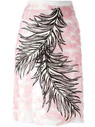 юбка с вышивкой  Emilio Pucci