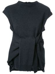 tied front knitted blouse Fad Three