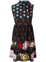 платье с цветочным узором Red Valentino