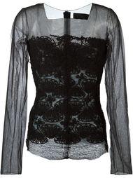 прозрачная блузка  Marc Le Bihan