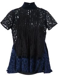 кружевная блузка Sacai