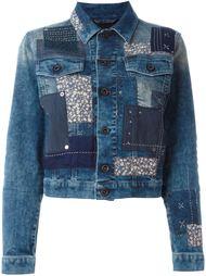 джинсовая куртка с заплатками Diesel