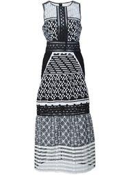 платье миди с вышивкой Jonathan Simkhai