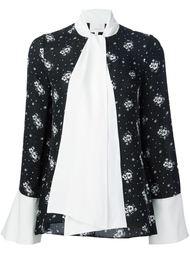блузка с цветочным принтом Cinq A Sept