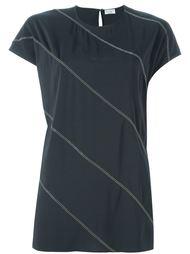 футболка в диагональную полоску Brunello Cucinelli