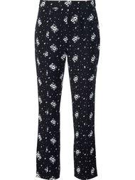 брюки с цветочным принтом Cinq A Sept