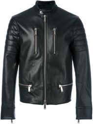 байкерская куртка на молнии  Dsquared2