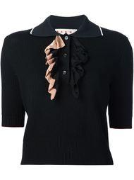 футболка-поло с перфорированным дизайном  Marni