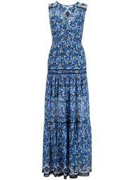 платье макси c V-образным вырезом  Veronica Beard