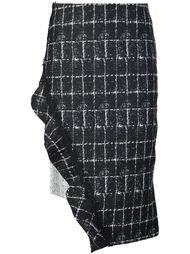 юбка с асимметричным подолом Jonathan Simkhai