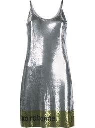 платье с логотипом Paco Rabanne