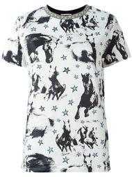 футболка с принтом лошади  Fausto Puglisi