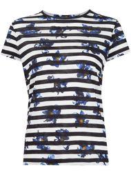 футболка в полоску с цветочным принтом  Proenza Schouler