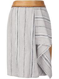 полосатая юбка с асимметричным подолом Sophie Theallet