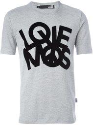 """футболка с принтом """"love"""" Love Moschino"""