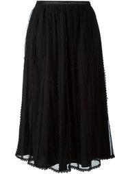 юбка из тюля со складками Red Valentino