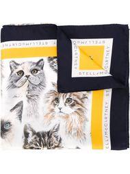 шарф с принтом кошек  Stella McCartney