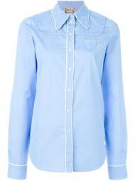рубашка с контрастной окантовкой Nº21