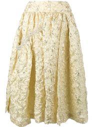расклешенная юбка с вышивкой Simone Rocha