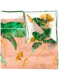 шарф с принтом банановых листьев Dolce & Gabbana