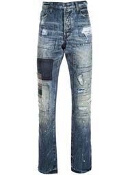 джинсы лоскутного кроя Prps