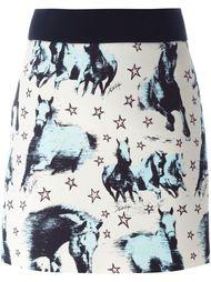 юбка с принтом лошадей  Fausto Puglisi