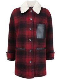 короткое пальто в клетку Mm6 Maison Margiela