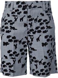 шорты с принтом животных Marc Jacobs