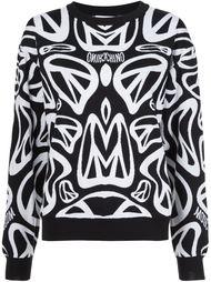 свитер с геометрическим узором  Moschino