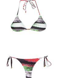 printed triangle top bikini set Lygia & Nanny