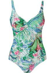 foliage print open back swimsuit Lygia & Nanny