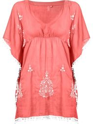 v-neck embroidered kaftan Sub