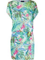 drawstring foliage print beach dress Lygia & Nanny
