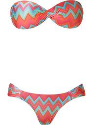 printed bandeau bikini set Sub