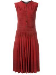 вязаное платье в рубчик  Alexander McQueen