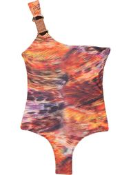 one shoulder printed swimsuit Lygia & Nanny