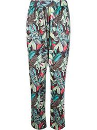 foliage print straight trousers Lygia & Nanny