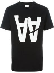 футболка с логотипом Wood Wood